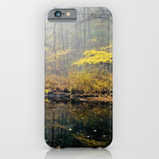 mist on the river iPhone & iPod Case