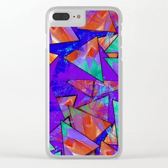 Blue Kaleidoscopic Clear iPhone Case