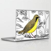 kentucky Laptop & iPad Skins featuring Kentucky Warbler by Art by Peleegirl