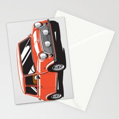Mini Cooper Car - Red Stationery Cards
