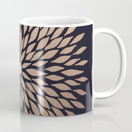 Rose Gold Flower Coffee Mug