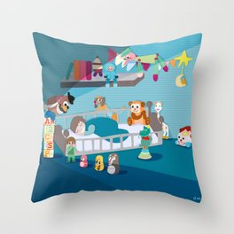 Quiet Time… Go to sleep my baby Throw Pillow