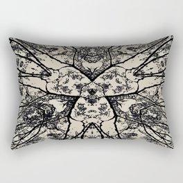 Black Flora No 1 Rectangular Pillow