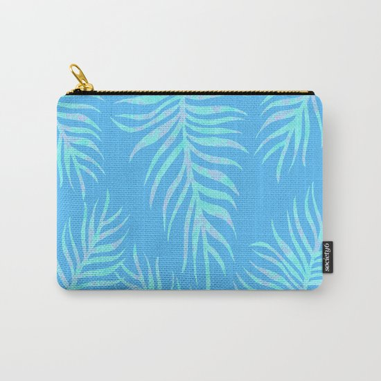 Fern pattern on light blue background Carry-All Pouch