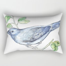 Watercolor of a bluebird Rectangular Pillow