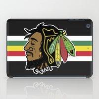 blackhawks iPad Cases featuring Rastafarian Blackhawk by beejammerican