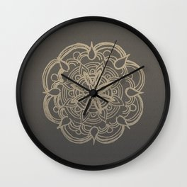 Gold Romantic Mandala #1 #drawing #decor #art #society6 Wall Clock