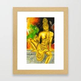 Sri Lankan Statue Framed Art Print