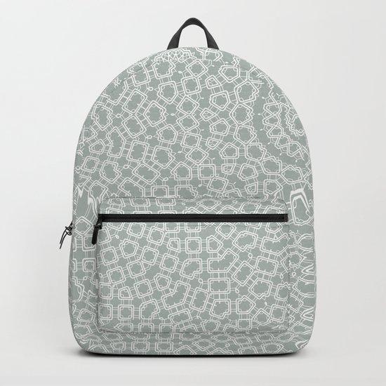 Grey white kaleidoscope Backpack