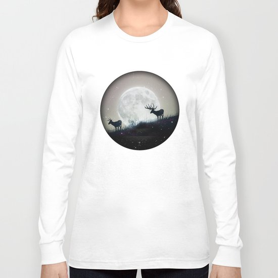 blue moon rising Long Sleeve T-shirt