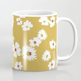 Modern liberty print on mustard ground Coffee Mug