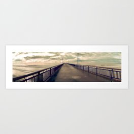 Christchurch Pier Art Print