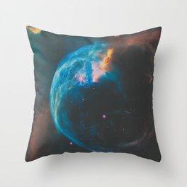 Bubble Nebula Space Throw Pillow