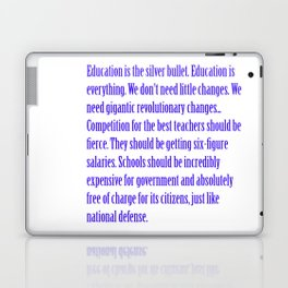 Education is the Silver Bullet Laptop & iPad Skin