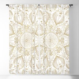 Boho Chic gold mandala design Blackout Curtain