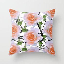 Florals & Swiggles Throw Pillow