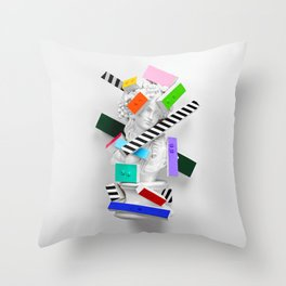 The Anxiety of Subjectivity Throw Pillow