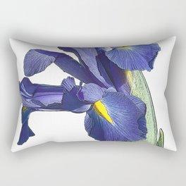 Blue Iris Rectangular Pillow