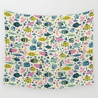 fish Wall Tapestries featuring Little Fish by Anna Deegan