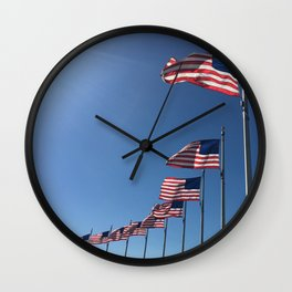 Flag Day Wall Clock