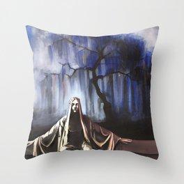 L'albero blu / The blue tree Throw Pillow