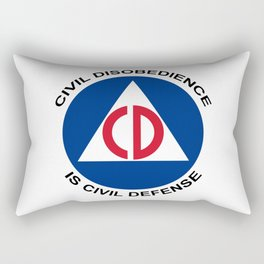 Civil Defence Rectangular Pillow