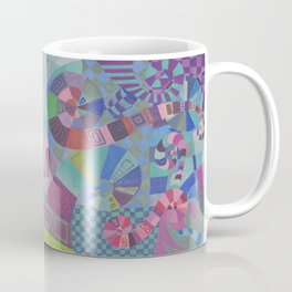 "Moo's Mom's Abstract art ""Alice Swirl"" Coffee Mug"