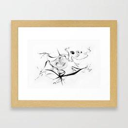 Line 4 Framed Art Print