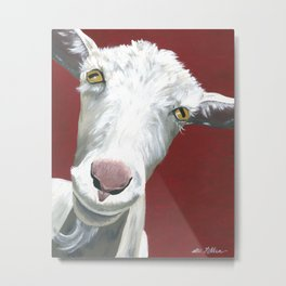 Goat art.  'Alfred II' from acrylic on canvas goat painting Metal Print