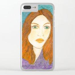 Woman Portrait no 3 Clear iPhone Case