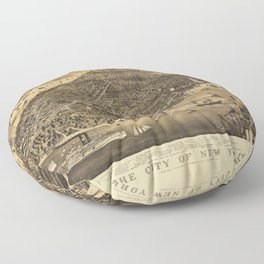 The City of New York by Currier & Ives (1889) Floor Pillow