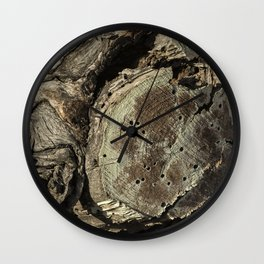 The Skin and Scar of a Cottonwood Tree Wall Clock