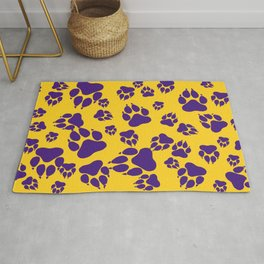 Gold and Purple Tiger Claws Pattern Digital Design Rug