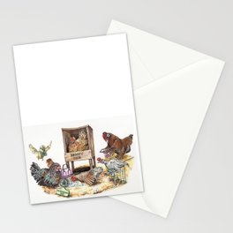 """""""Life in the Coop"""" funny chicken watercolor Stationery Cards"""