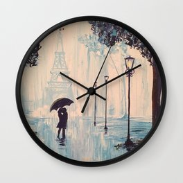 Last Night In Paris  Wall Clock