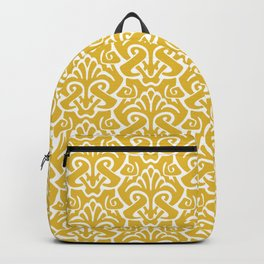 Art Nouveau Pattern Mustard Yellow Backpack