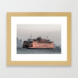 """The Boat"" , Staten Island Ferry Framed Art Print"