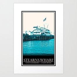 Stearns Wharf Art Print