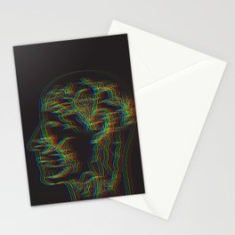 The drawing of human nervous system Stationery Cards
