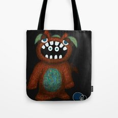 Scared Monster Tote Bag