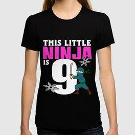 Birthday Ninja Party Samurai Ninjas Gift Japanese Ninja stars Fighter Gift 9 T-shirt