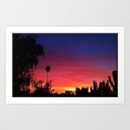 Sunset From My Driveway Art Print