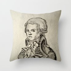 French Sketch I Throw Pillow