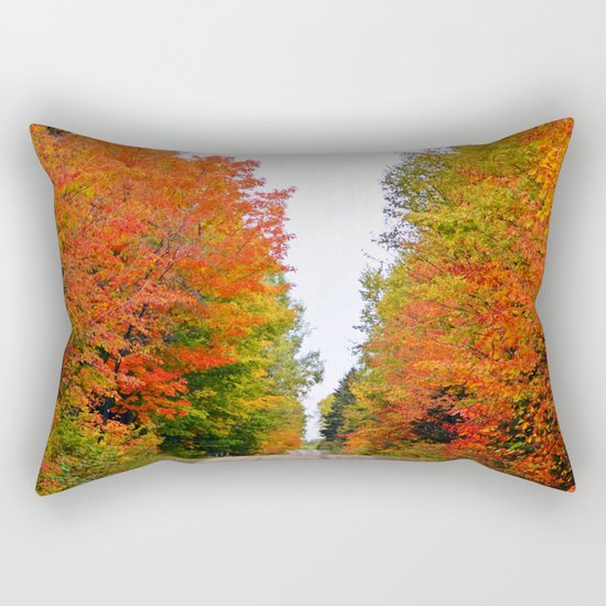 Rolling Through the Hills of Autumn Rectangular Pillow