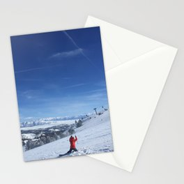 Ski Slice Stationery Cards