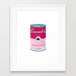 Cannabis Soup Framed Art Print