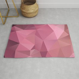 Abstract triangles polygon in soft pink rose colors Rug