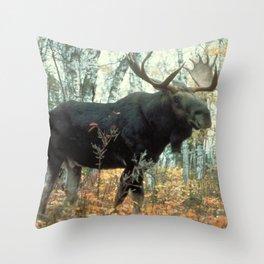 Huge Moose Throw Pillow