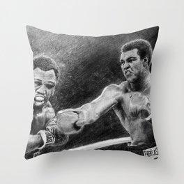 Thrilla in Manilla Pencil Drawing Throw Pillow