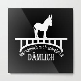 Donkey Schoolchild 2020 Donkey Bridge Spelling Metal Print